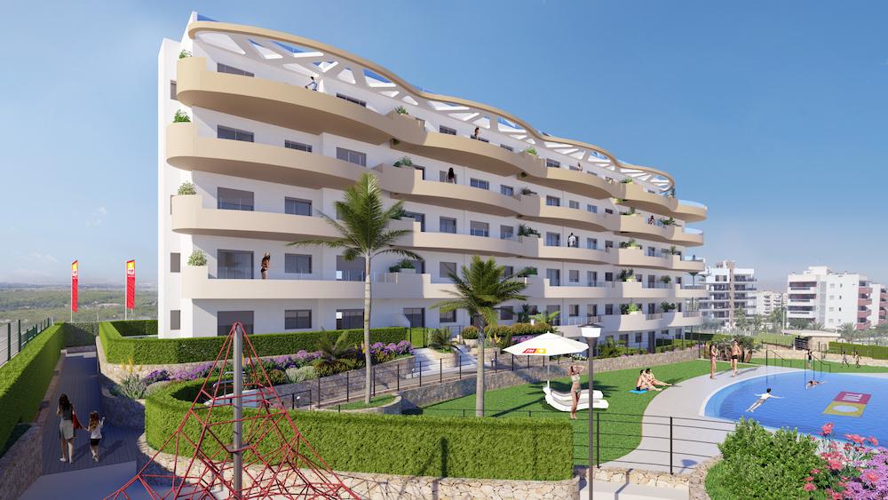 Fachada residencial Arenales Playa 10